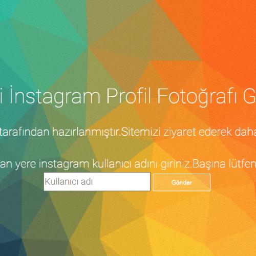 Instagram Profil Resmi Büyük Görme Scripti (YENİ)