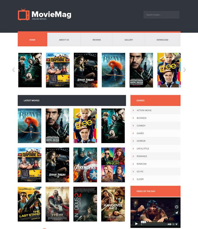 Movie Mag Blogger Film Teması