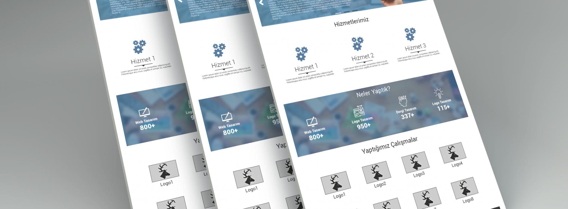 Ücretsiz Kurumsal Anasayfa Tasarımı PSD
